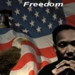 MLK w flag & eagle
